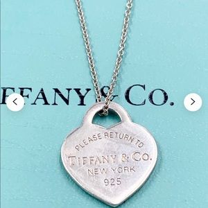 Authentic Tiffany heart pendant with chain 🤍